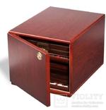 Коллекционный шкаф из МДФ. 301415. Цвет: красное дерево. фото 2