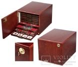 Коллекционный шкаф из МДФ. 301415. Цвет: красное дерево. фото 3