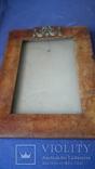 Старинная рама из карельской березы с бронзовой накладкой, фото №2