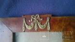 Старинная рама из карельской березы с бронзовой накладкой, фото №6