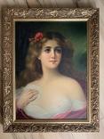 Женский портрет, без подписи, 52*39, фото №2