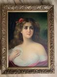 Женский портрет, без подписи, 52*39, фото №5