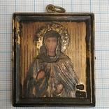 Икона Антонина. Серебро 84