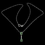 Ожерелье с натуральными изумрудами photo 1