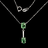 Ожерелье с натуральными изумрудами photo 2