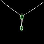 Ожерелье с натуральными изумрудами photo 3