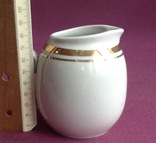 Сливочник / молочник Золотая шейка. Фарфор, позолота., фото №5