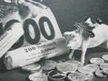 Свинья и мешок денег.деньги,старая Германия, фото №3