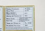 20 гривень 2007 р. Срібло. Голодомор - геноцид українського народу. photo 11