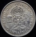 Великобритания флорин 1941 aUnc серебро