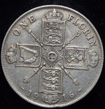 Великобритания флорин 1916 серебро