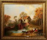 Картина маслом на холсте ′Мельница де Кике-Грон в Шарантоне′ 2007 г., фото №2