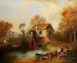 Картина маслом на холсте ′Мельница де Кике-Грон в Шарантоне′ 2007 г., фото №3