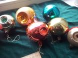Елочные игрушки шары 9шт, фото №4