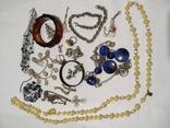 Бижутерия , серебро, янтарь. под реставрацию
