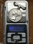 Великобритания.Медаль за Крымскую войну.1854г.Серебро.Оригинал., фото 4