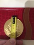 Памятная медаль ветерана жёлтого цвета photo 1