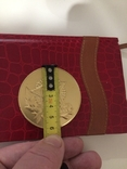 Памятная медаль ветерана жёлтого цвета photo 2