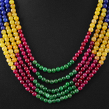 Ожерелье из натуральны рубинов, изумрудов и цветных сапфиров 500 карат, фото №3
