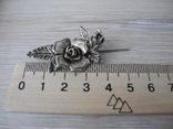 Брош Старинная Роза ( серебро 800пр), фото №6