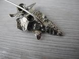 Брош Старинная Роза ( серебро 800пр), фото №7
