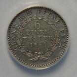 1/6 талера, 1861 г Анхальт photo 3