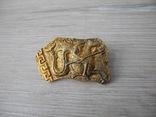 Серебряная Брош в позолоте с античным мотивом, фото №2