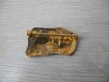 Серебряная Брош в позолоте с античным мотивом, фото №4
