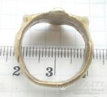 Перстень рогач, серебро в позолоте photo 4