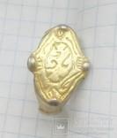 Перстень рогач, серебро в позолоте photo 5