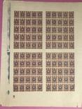 Лист марок. 15 копеек . Без перфорации . Царская Россия photo 1