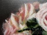 """''Розы"""". 20х30 см. масло холст на подрамнике photo 3"""