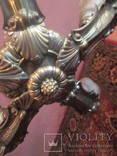 Люстра 5 рожковая латунь, фото №7