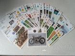 Набор карточек Мотоциклы 1904-1990 годов (52 шт.)