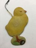 Елочная игрушка картон Цыплёнок, фото №3