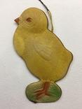 Елочная игрушка картон Цыплёнок, фото №2