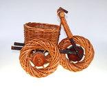 Подставка для цветов плетёная. Велосипед, фото №4