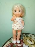 Кукола ссср.ранняя паричковая в фабричной одежде, фото №2