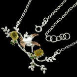 Ожерелье с натуральными желтыми сапфирами и хромдиопсидами, фото №4