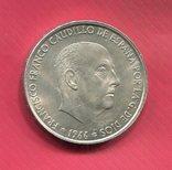Испания 100 песет 1966 серебро Франко, фото №2