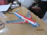 Самолет винтаж игрушка жесть  cccp, фото №2