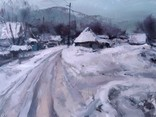 ''Зима'', 90×120, полотно, олія, акрил. Шаповал Ю.