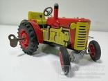 Жестяной заводной трактор с прицепом. 4 передачи. Комплект. photo 2