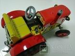 Жестяной заводной трактор с прицепом. 4 передачи. Комплект. photo 6