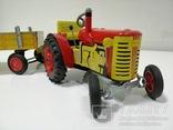 Жестяной заводной трактор с прицепом. 4 передачи. Комплект.