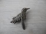 Брош Птичка ( серебро 925 пр), фото №2