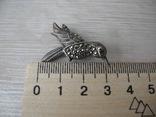Брош Птичка ( серебро 925 пр), фото №7