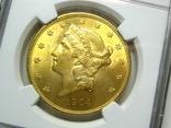 США 20 долларов 1904 г. NGC MS63+, фото №4