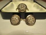 Набор сережки и кольцо 925 пробы с фианитами