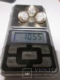 Набор сережки и кольцо 925 пробы с фианитами, фото №8